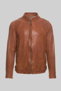 Kožená bunda CCU-1900-2658 dark cognac