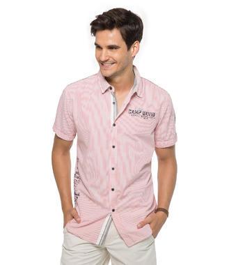 růžová košile Camp David Tropical Waters