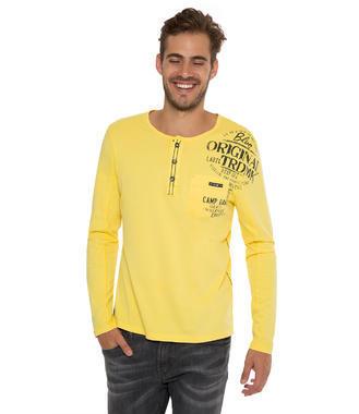 Žluté tričko dl.rukáv Camp David Deep Sea