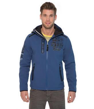 modrá softshellová bunda