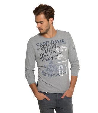 šedé tričko CCB-1710-3756