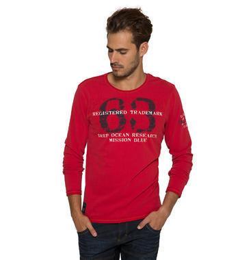 červené tričko dl.rukáv CCB-1710-3757