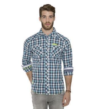 Košile modrá kostka CCB-1711-5018