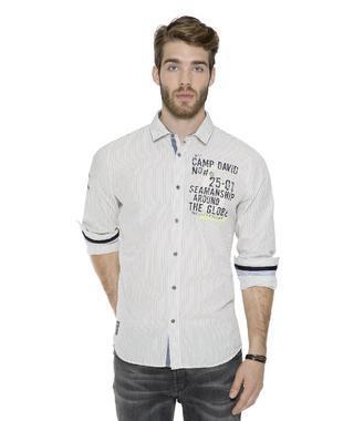 Bílá košile s modrým proužkem CCB-1711-5019