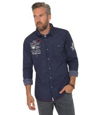 Košile Muscle Fit CCB-1803-5486 blue