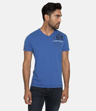 Tričko 1/2 v- CCB-1811-3062-2 signal blue