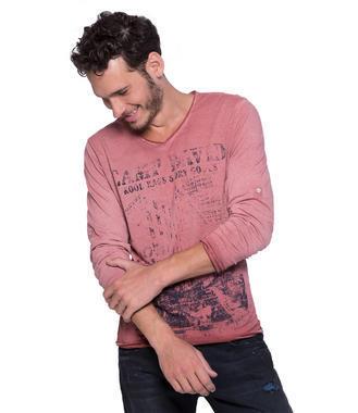 Růžové tričko s dlouhým rukávem