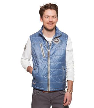 Modrá polstrovaná vesta