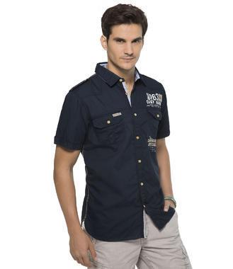 Tmavě modrá košile Camp David Caribbean Way of Life