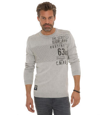 Pulover CCG-1709-4806 wale grey