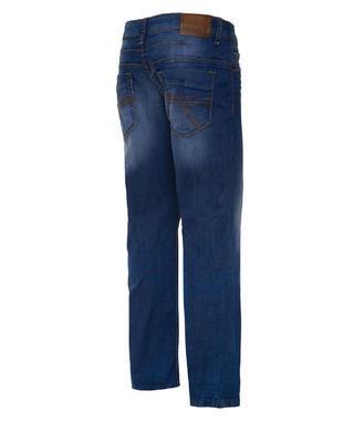 modré džíny sepraného vzhledu
