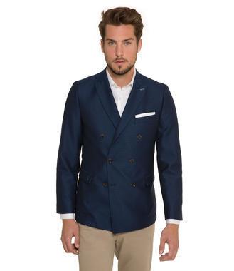 Tmavě modré dvouřadé sako