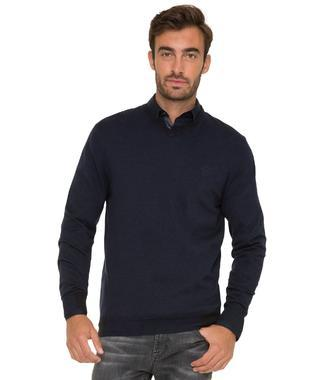 Tmavě modrý pulover CHS-1755-4012