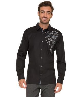 černá košile CHS-1755-5175 Regular Fit