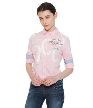 Růžová košile Soccx Seaside Trip