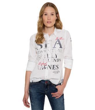 Bílá košile s potiskem SPI-1711-5094