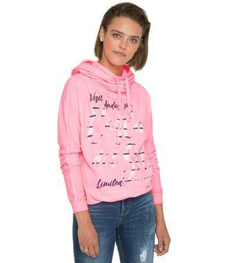 Mikina s kapucí SPI-1801-3108 neon pink