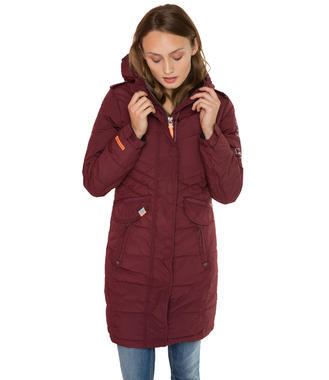 Vínový zimní kabát Soccx