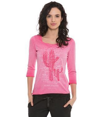 tričko  3/4 STO-1807-3687 sunset pink