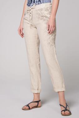 Plátěné kalhoty STO-2004-1853 desert beige/spicy orange
