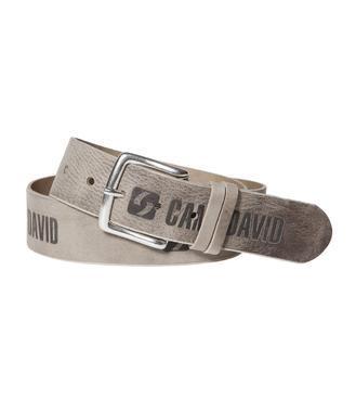Kožený pásek 999-6128 beige