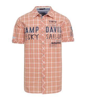košile chec CCB-1804-5421 faded orange