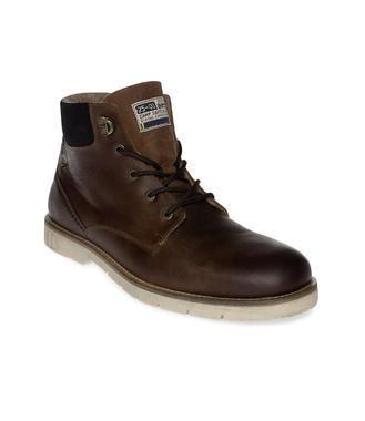 Hnědé kožené boty Camp David
