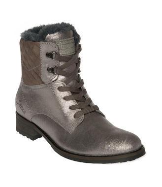 Semišové boty SCU-1755-8946 silver grey
