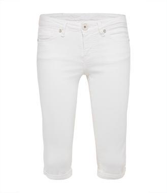 bíle džínové kraťasy