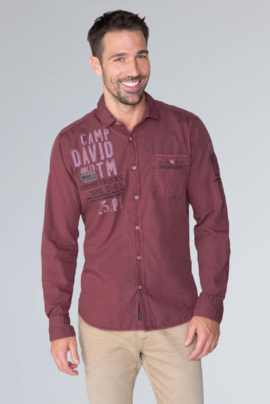 Košile CCG-1910-5080 maroon red|M - 1