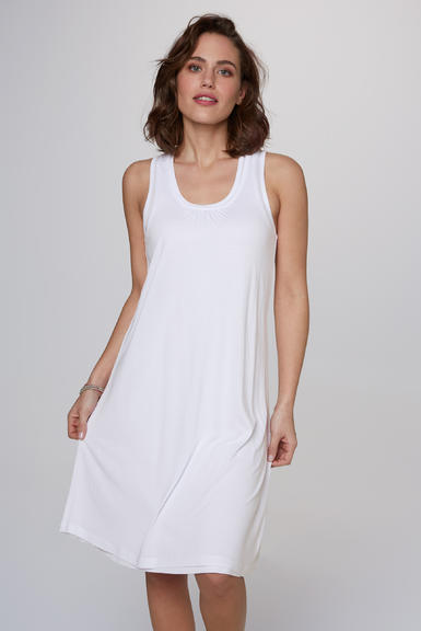 Dvouvrstvé šaty SCU-2000-7526 opticwhite|S - 1