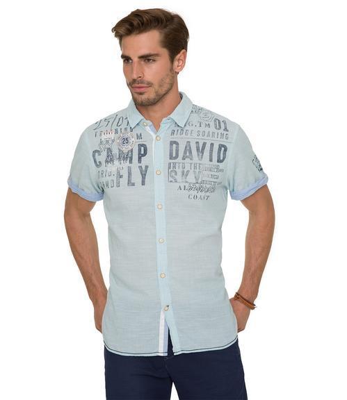 košile CCB-1804-5418 old aqua|XXL - 1