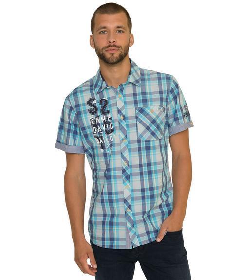 košile chec CCB-1804-5419 old aqua|XL - 1