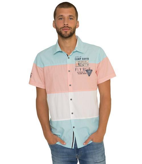 košile 1/2 CCB-1804-5420 old aqua|XXL - 1