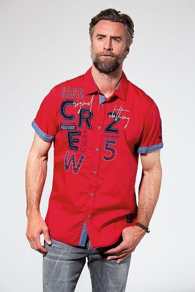 Košile CCB-1907-5838 Royal Red|M - 1