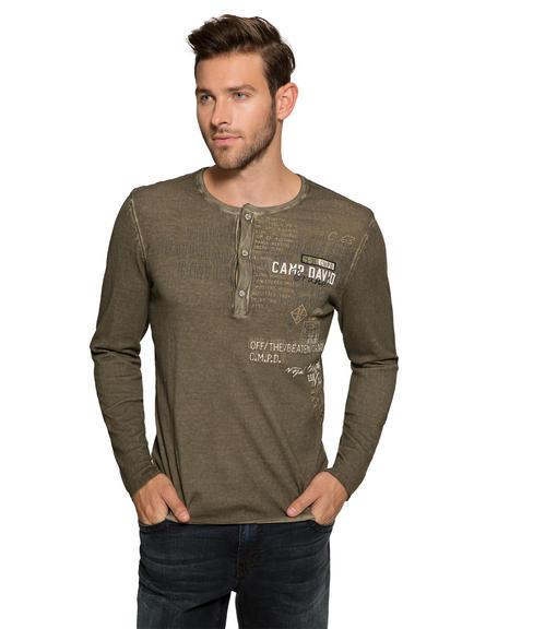 Vzdušný khaki svetr|S - 1