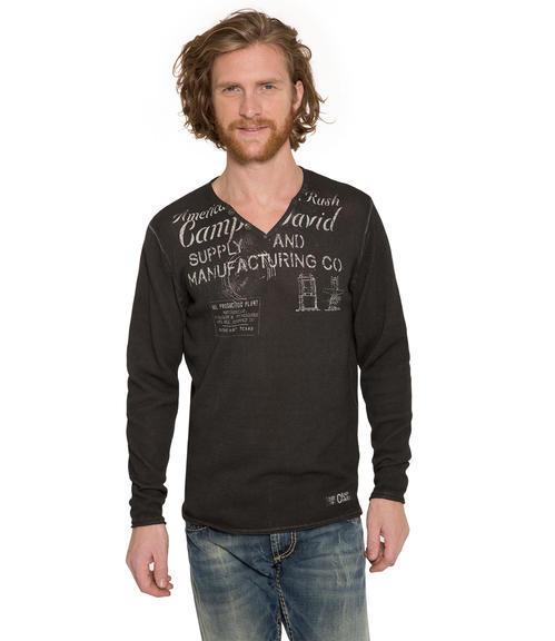 Ležérní černý svetr|M - 1