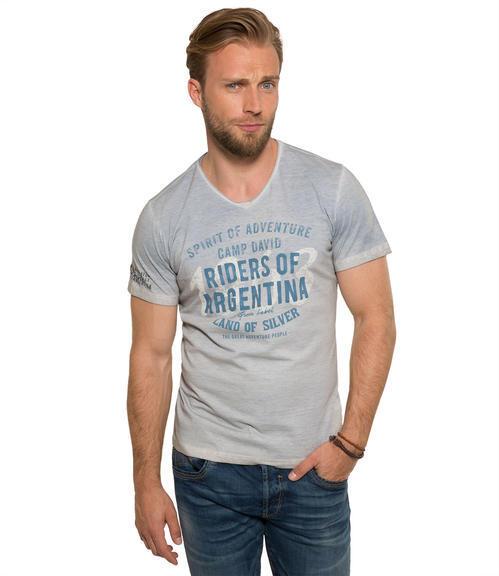 světle modré tričko s potiskem|S - 1