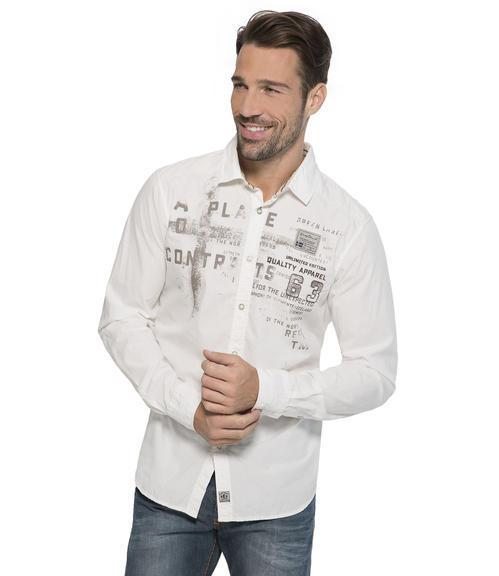bílá košile s dlouhým rukávem S - 1