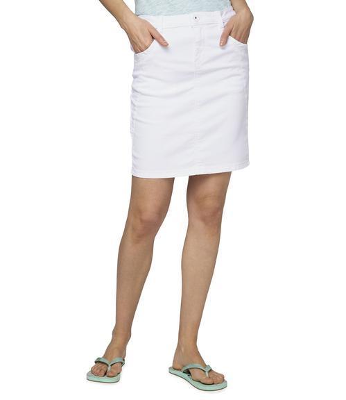 Džínová sukně SDU-1900-7392 optic white|S - 1