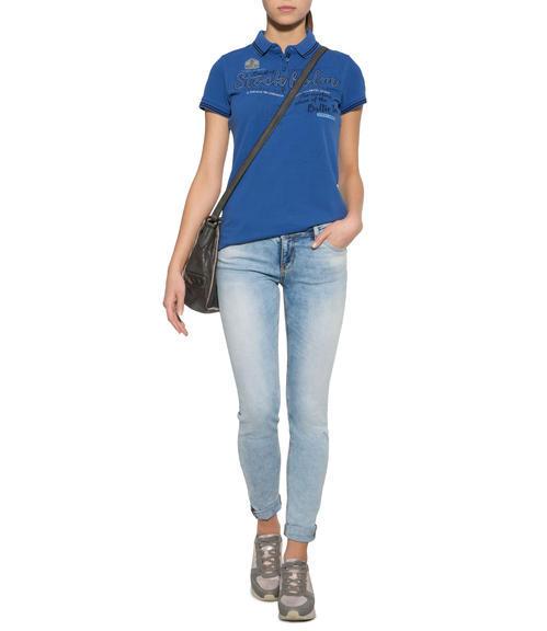 Sportovní modré polo tričko|S - 1