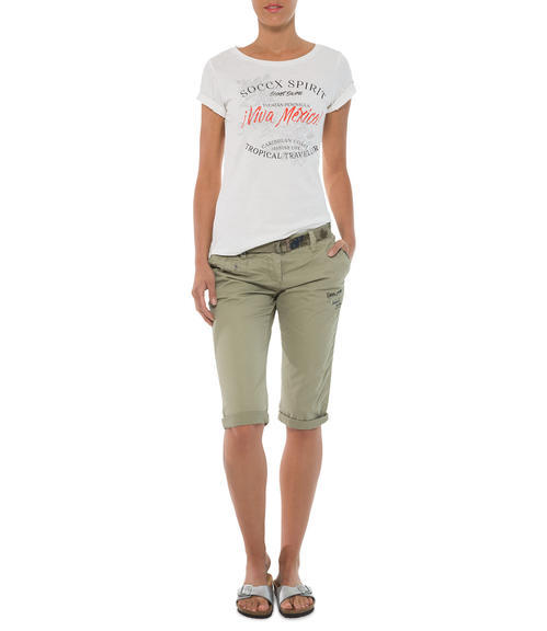 khaki capri kalhoty Soccx Tropical Traveler|XXL - 1