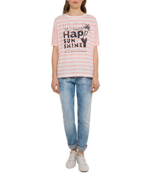 Růžové tričko happy sunshine|M - 1