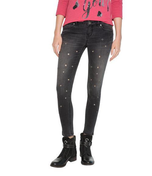 Slim Fit Jeans STO-1709-1680 dark grey used|26 - 1