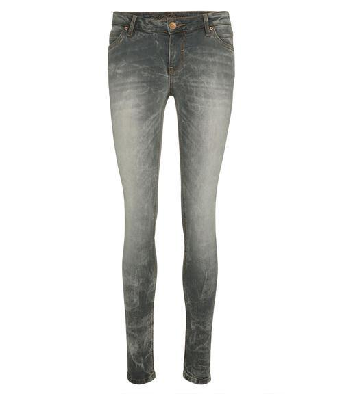 Světle šedé džínové kalhoty se sepraným efektem|32 - 1
