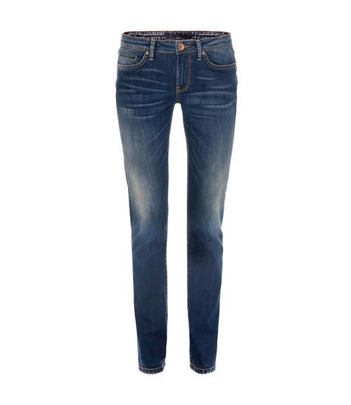 Tmavě modré džíny s kontrastním lemováním|30 - 1