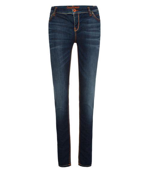 tmavě modré strečové džíny|32 - 1