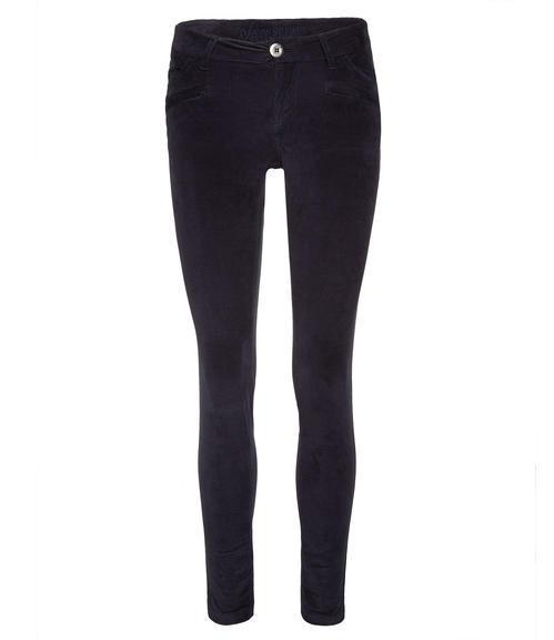 Tmavě modré semišové kalhoty|31 - 1
