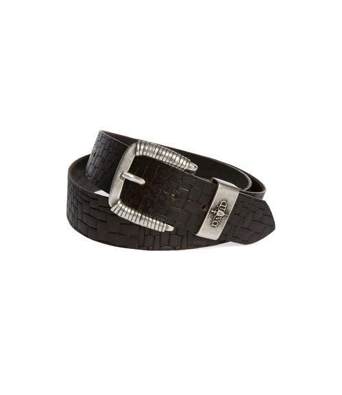 Kožený pásek CCU-9999-8424 black-brown|90