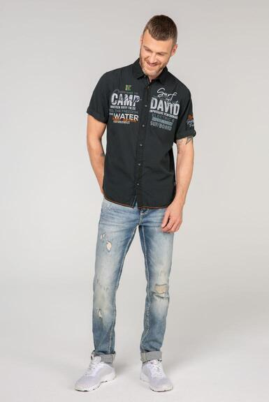 Košile CCB-2102-5780 black|L - 2
